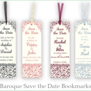 Baroque Bookmark Save the dates