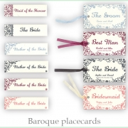 Baroque placecards