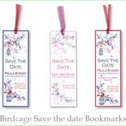 birdcage book amrk save the date