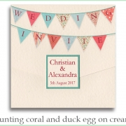 bunting coral duck cream