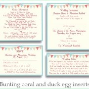 bunting coral duck inserts