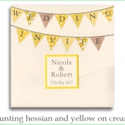 bunting hessian yellow cream