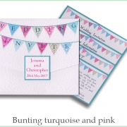 bunting turquoise and pink