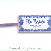 Damask tag place card