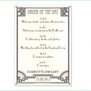 gatsby deco wedding invitation 8