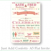 Just add confetti A5 Invite