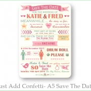Just add confetti A5 savethedate