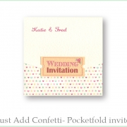 Just add confetti pocketfold invitation