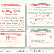 Just add confetti pocketfold invite inserts