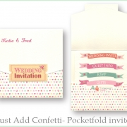 Just add confetti pocketfold invite