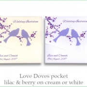 love doves lilac berry