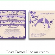 love doves lilac on cream