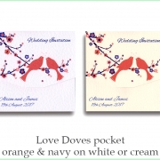 love doves orange and navy
