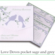 love doves sage and grey