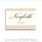 Love Lace A5 Table Name