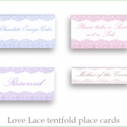 Love Lace placecards
