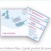 pocketfold cyprus wedding invitation