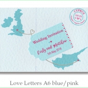 love letters a6 blue