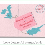love letters a6 orange