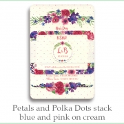 p and p stack blue pink cream
