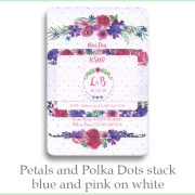 p and p stack blue pink white