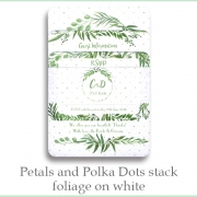 p and p stack foliage white