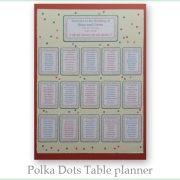 Polka Dots table planner card A1