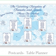 table planner postcards