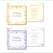 Snowflake winter frosty christmas wedding invitation 10