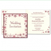 Snowflake winter frosty christmas wedding invitation 11