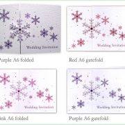 Snowflake winter frosty christmas wedding invitation 12