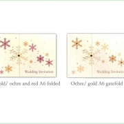 Snowflake winter frosty christmas wedding invitation 14