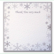 Snowflake winter frosty christmas wedding invitation 16