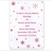 Snowflake winter frosty christmas wedding invitation 17