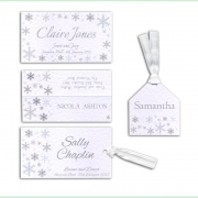 Snowflake winter frosty christmas wedding invitation 18