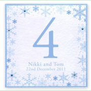 Snowflake winter frosty christmas wedding invitation 20