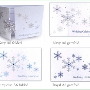 Snowflake winter frosty christmas wedding invitation 5