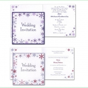 Snowflake winter frosty christmas wedding invitation 9