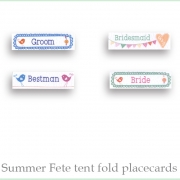 Summer fete Placecards