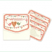 summer fete bright pretty pocketfold wedding invitation