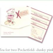 Tea for two Dusky pink invite