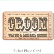 ticket place card