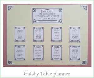 Gatsby Table Planner