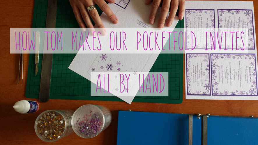 making our VERY OWN pocketfold invites