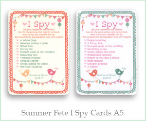 Summer fete i spy cards