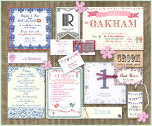 Wedding Reception Stationery we made in 2015