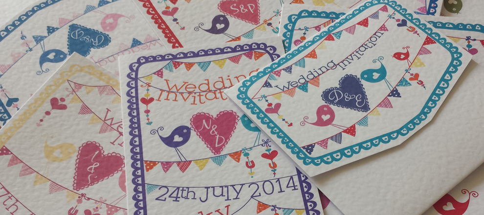 summer fete birds hearts bunting