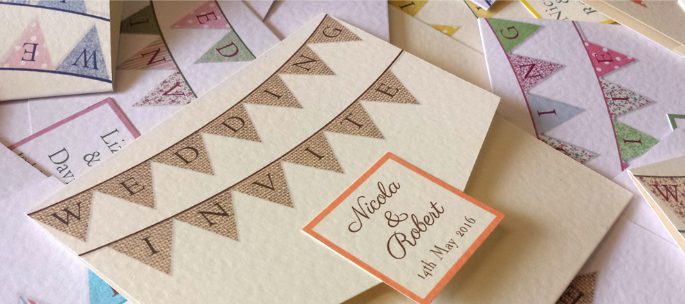 weddin ginvitation invite stationery buntin